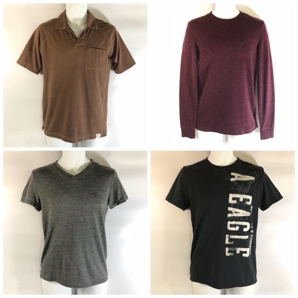 7f1ddb3e American Eagle Outfitters Shirts | Bundle Of 4 Mens Xs American ...